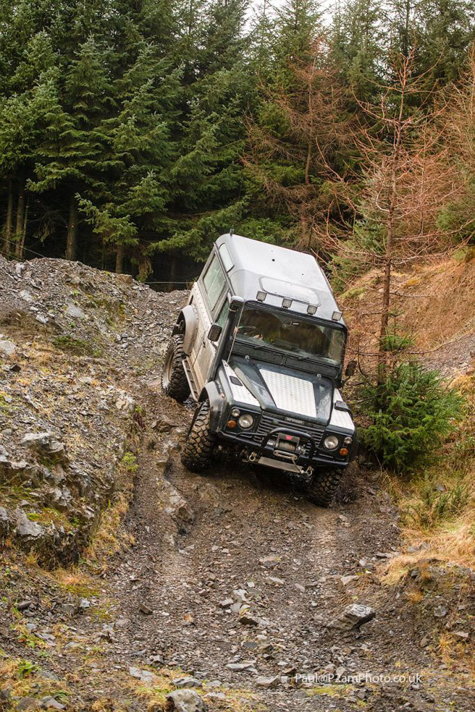 Defender 90 On Steep Hill